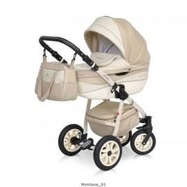 Детская коляска 2 в 1 Caretto Montana (экокожа)