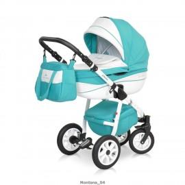 Детская коляска 3 в 1 Caretto Montana (экокожа)
