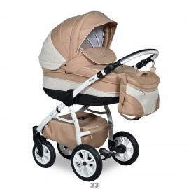 Детская коляска 2 в 1 Indigo Carmen /Carmen S (экокожа)