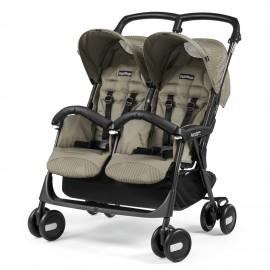 Детская коляска для двойни Peg-Perego Aria Shopper Twin + накидки на ножки