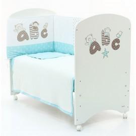 Детская кроватка Micuna Promo ABC 120х60 + бортики + матрас