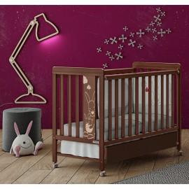 Детская кроватка Micuna Kangaroo Chocolate  120x60 + матрас
