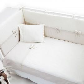 Постельный комплект Fiorellino Premium Baby Cream 125x65 5 п