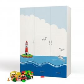 Шкаф 3-х дверный Advesta Ocean (Адвеста Океан)