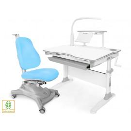 Комплект Mealux парта EVO-30 с лампой + кресло Onyx Mobi Y-4