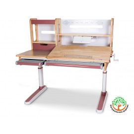 Детский стол Mealux Oxford Wood Lite с полкой