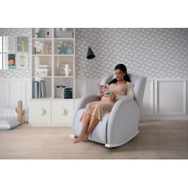 Кресло-качалка с Relax-системой Micuna Wing/Flor White Кожан