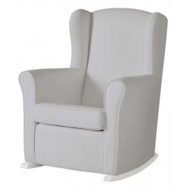 Кресло-качалка Micuna (Микуна) Wing/Nanny white/grey искусст
