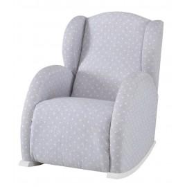 Кресло-качалка Micuna (Микуна) Wing/Flor Relax white/grey ис