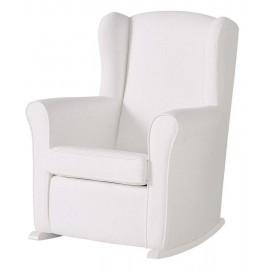 Кресло-качалка Micuna Wing/Flor White Кожаная обивка