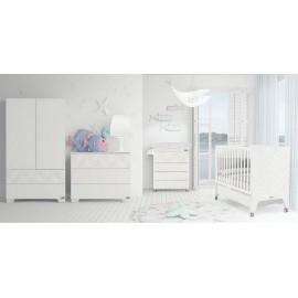 Кроватка 140x70 Micuna Mare Relax Big(White/White Bright)