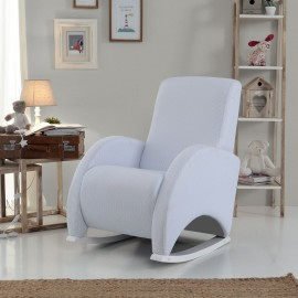 Кресло-качалка Micuna Wing/Confort White Кожаная обивка