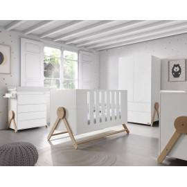Кроватка 140x70 Micuna Swing Big(White/Scandinavian)