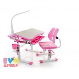 Детская парта с стулом и лампой Mealux EVO-05