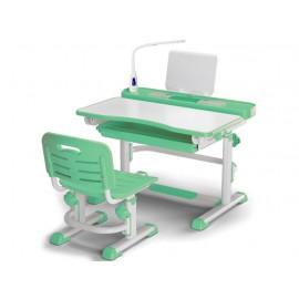 Детская парта с стулом Mealux EVO BD-04 New с лампой