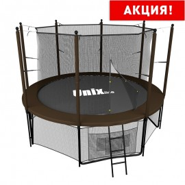 Батут UNIX line 8 ft Black&Brown (inside) (244 см)