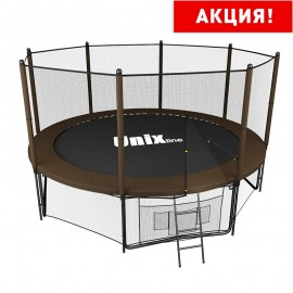Батут UNIX line 10 ft Black&Brown (outside) (305 см)
