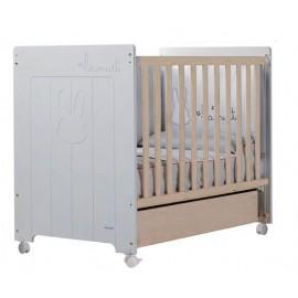 Кровать Micuna Bunny PLUS (Микуна Банни Плюс) 120*60 white/water wood